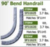 90 bend handrail