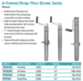 A-Frame/Drop-Thru Screw Jacks