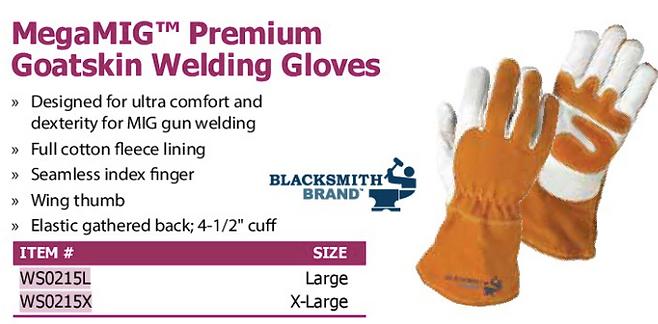 megaMIG premium gatskin welding gloves