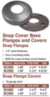 snap flange covers