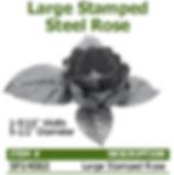 large stamped steel rose