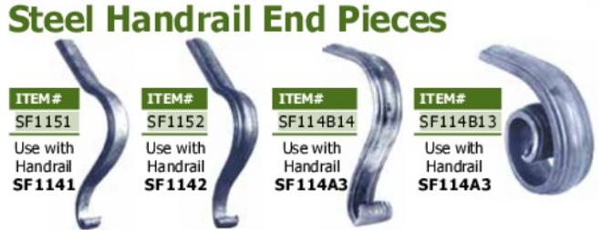stel hadrail end piece