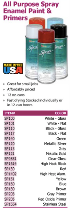 all purpose spra enamel paint & primers