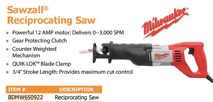 sawzall reciprocating saw