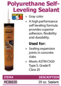 polyurethane self-leveling sealant