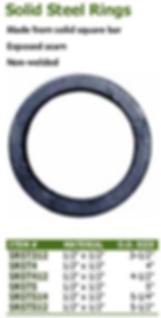solid steel rings