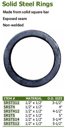 solid steel rings