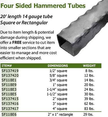 hammered tube