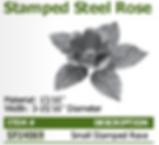 stamped steel rose