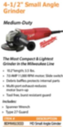 "4 1/2"" small angle grinder"
