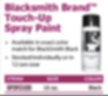 blacksmith brand tuch-up spray paint