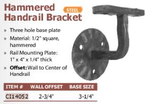 hammered handrail bracket
