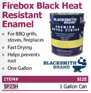 firebox black heat resistant enamel