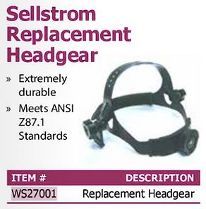 sellstrom replacement headgear