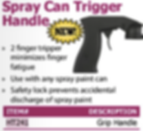 spray can trigger handle
