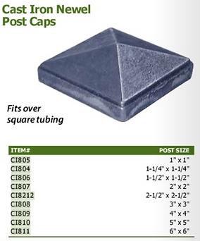 Cast Iron Newel Post Caps