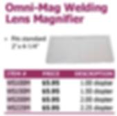 omni-mag welding lens magnifier