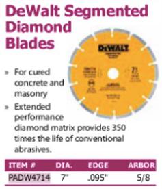 DeWalt Segmented diamond blades
