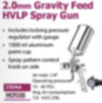 2.0mmgravity feed HVLP spray gun