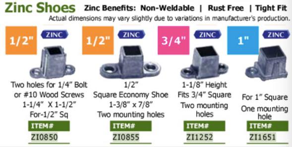 zinc shoe