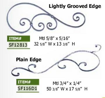 Lightly grooved edge