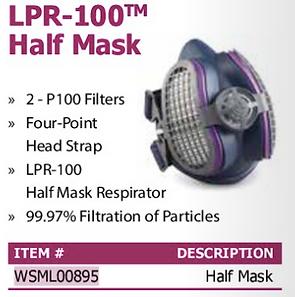 lpr-100 half mask