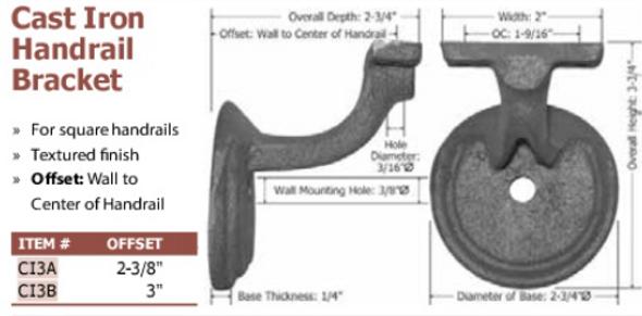 cast iron handrail bracket