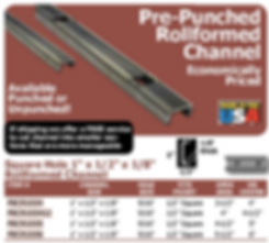 pre-punched rollformed channel