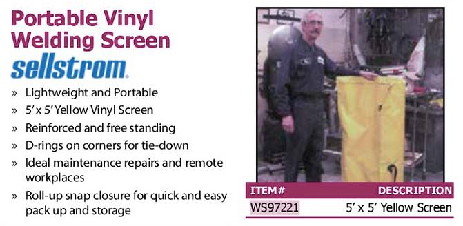 portable vinyl welding screen