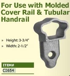 molded cover rail and tubular