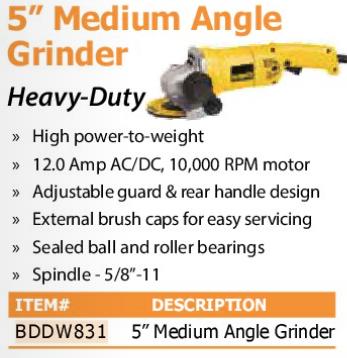 "5"" medium angle grinder"