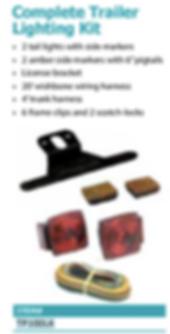 complete trailer lighting kit