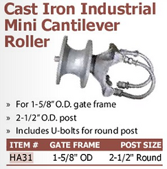 cast iron industrial mini cantilever roller