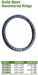 solid steel hammered rings