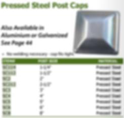 pressed steel post caps
