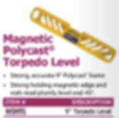 magnetic polycast torpedo level