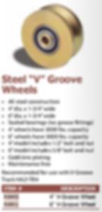 "steel ""v"" groove wheels"