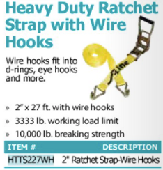 heavy duty ratchet trap with wire hooks