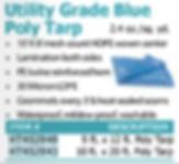utility grade blue poly tarp