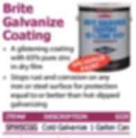 brite galvanize coating