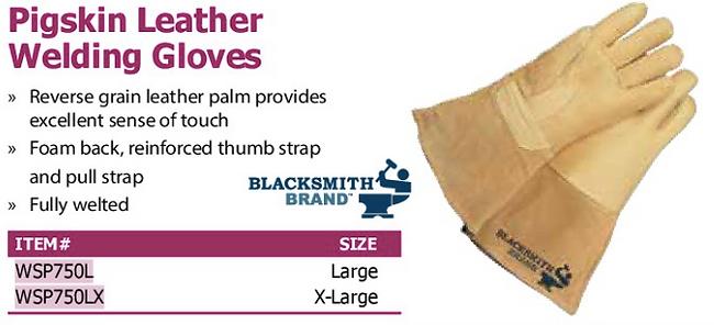 pigskin leather welding gloves