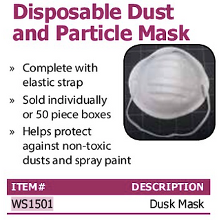 disposable dust and particle mask