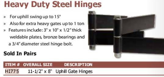 heavy duty steel hinges
