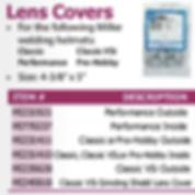 lens covers welding