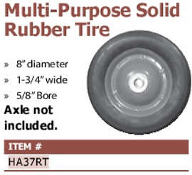 multi-purpose solid rubber tire