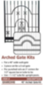 arched gate kits