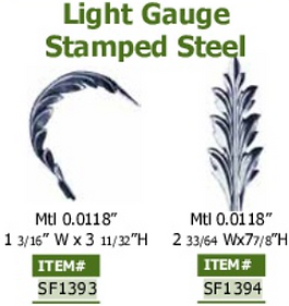 light gauge stamped steel