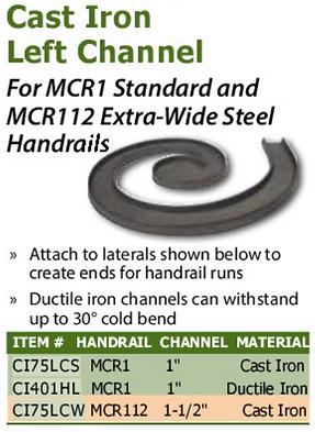 cast iron left channel