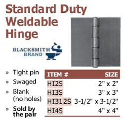 standard duty weldable hinge