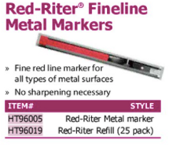 red-riter finelne metal markers